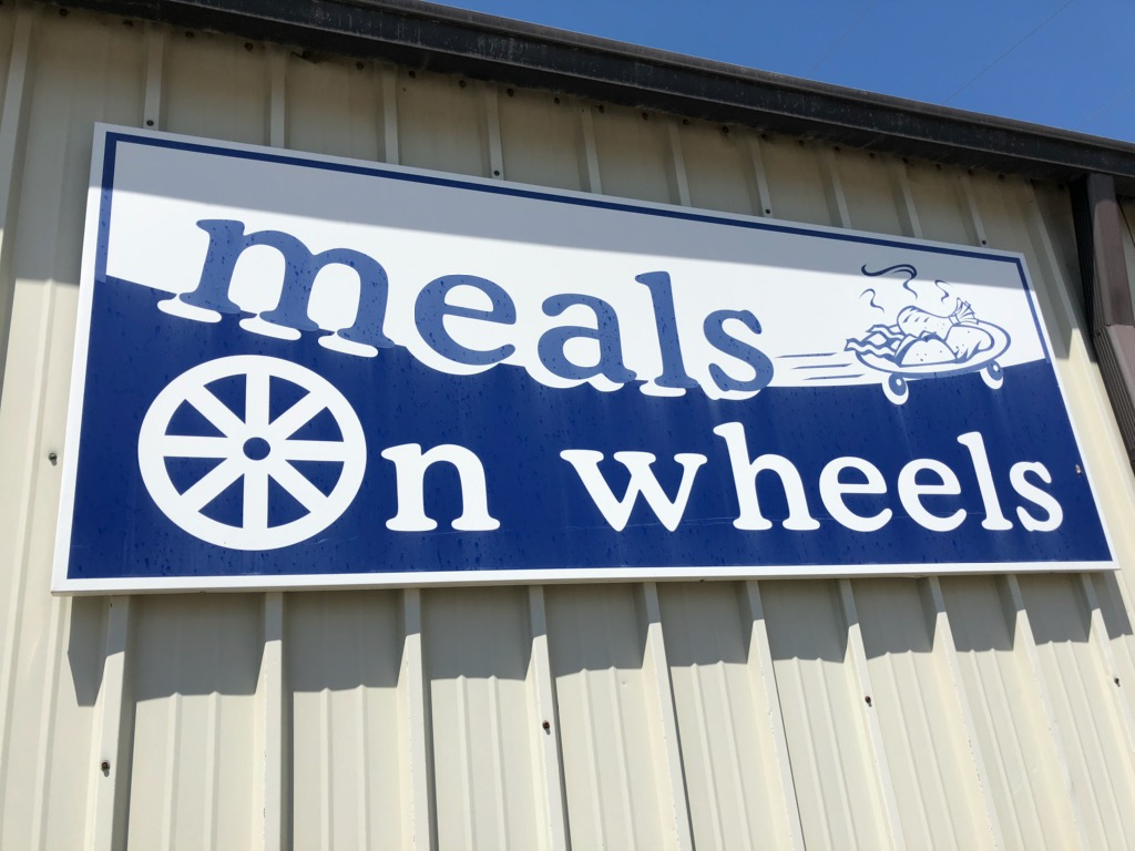 Meals on wheels sign